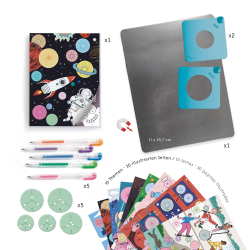 DISEGNO CON LE SPIRALI quaderno 10 TEMI kit artistico DJECO creativo DJ08736 età 7+ Djeco - 2