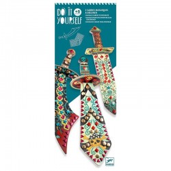 3 SPADE DA DECORARE kit artistico DO IT YOURSELF gemme lucenti DJECO creativo DJ07902 età 5+ Djeco - 1