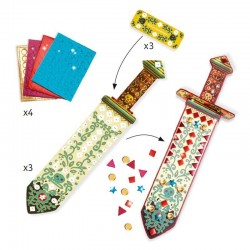 3 SPADE DA DECORARE kit artistico DO IT YOURSELF gemme lucenti DJECO creativo DJ07902 età 5+ Djeco - 3