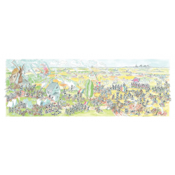 PUZZLE fabio vettori BATTAGLIA DI WATERLOO made in italy 1080 PEZZI eco friendly 48,5 X 68,5 CM le formiche FABIO VETTORI - 1