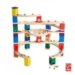 QUADRILLA LOOP DE LOOP set base gioco piste in legno per biglie età 4+