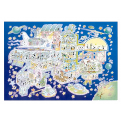 PUZZLE fabio vettori BASE SPAZIALE made in italy 1080 PEZZI eco friendly 48,5 X 68,5 CM le formiche FABIO VETTORI - 1
