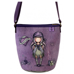 BORSA IN NEOPRENE bag SEA NIXIE gorjuss VIOLA santoro 885GJ10 tracolla Gorjuss - 2