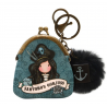 MINI PORTACHIAVI mini keyring clasp purse BLACK PEARL gorjuss BLU santoro 919GJ06 portachiavi Gorjuss - 1