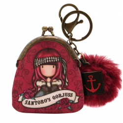 MINI PORTACHIAVI mini keyring clasp purse MARY ROSE gorjuss ROSSO santoro 919GJ08 portachiavi Gorjuss - 1