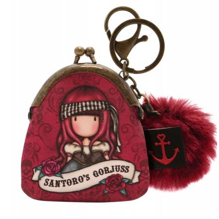 MINI PORTACHIAVI mini keyring clasp purse MARY ROSE gorjuss ROSSO santoro 919GJ08 portachiavi Gorjuss - 1