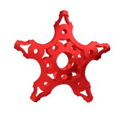 FOOOTY PACK red ROSSO portatile PALLA modulare DA 2D A 3D ball 10 PEZZI - 10