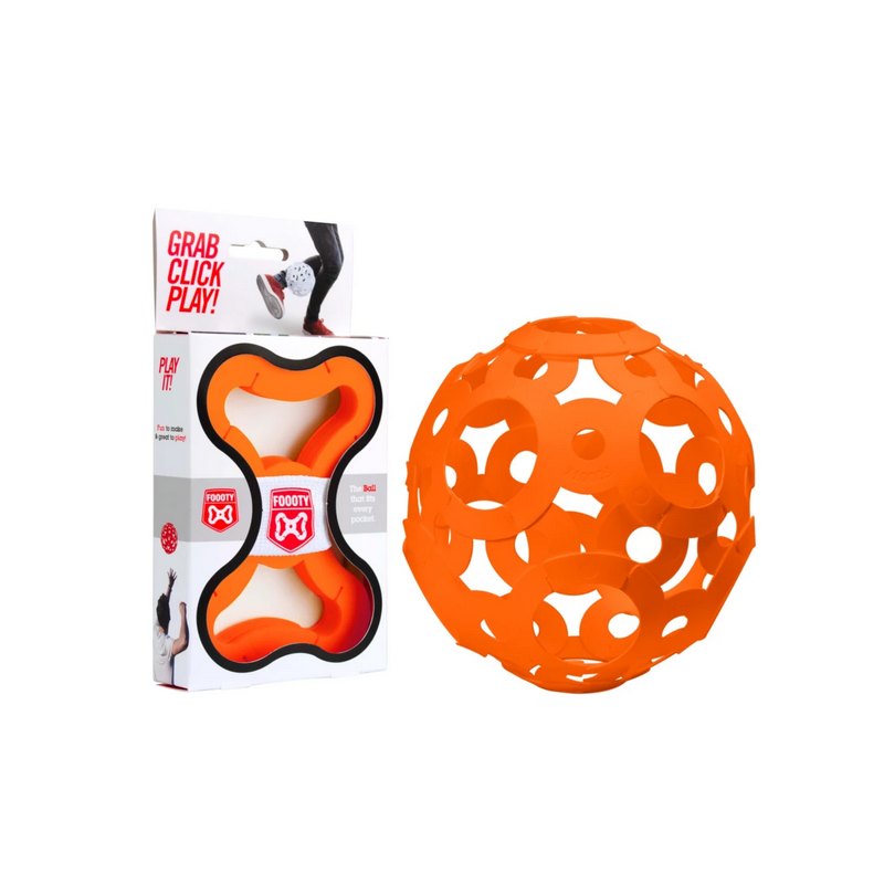 FOOOTY PACK orange ARANCIONE portatile PALLA modulare DA 2D A 3D ball 10 PEZZI FOOOTY - 1