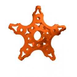 FOOOTY PACK orange ARANCIONE portatile PALLA modulare DA 2D A 3D ball 10 PEZZI FOOOTY - 13
