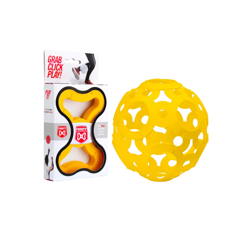 FOOOTY PACK yellow GIALLO portatile PALLA modulare DA 2D A 3D ball 10 PEZZI FOOOTY - 1