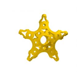 FOOOTY PACK yellow GIALLO portatile PALLA modulare DA 2D A 3D ball 10 PEZZI FOOOTY - 11