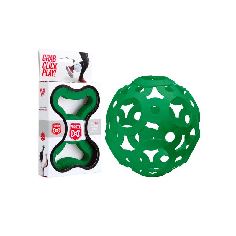 FOOOTY PACK green VERDE portatile PALLA modulare DA 2D A 3D ball 10 PEZZI FOOOTY - 1