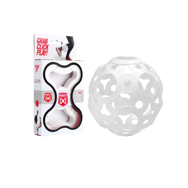 FOOOTY PACK white BIANCO portatile PALLA modulare DA 2D A 3D ball 10 PEZZI FOOOTY - 1