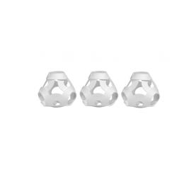 FOOOTY PACK white BIANCO portatile PALLA modulare DA 2D A 3D ball 10 PEZZI FOOOTY - 12