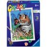 GATTO kit artistico CREART ravensburger 15 COLORI con cornice BEST FRIENDS età 9+ Ravensburger - 1