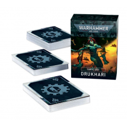 CARTE DATI warhammer 40k DRUKHARI games workshop IN ITALIANO datacards 41 STRATAGEMMI età 12+ Games Workshop - 2