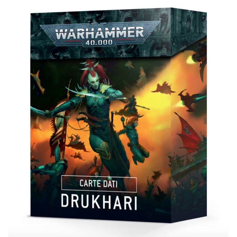 CARTE DATI warhammer 40k DRUKHARI games workshop IN ITALIANO datacards 41 STRATAGEMMI età 12+ Games Workshop - 1