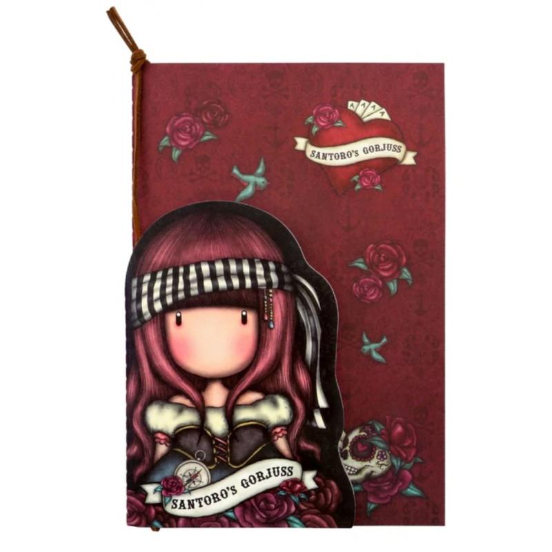 SET DI 2 NOTEBOOK stitched MARY ROSE gorjuss ROSSO santoro 1063GJ01 Gorjuss - 1