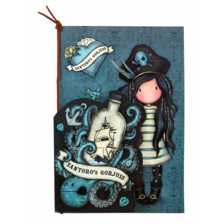 SET DI 2 NOTEBOOK stitched BLACK PEARL gorjuss BLU santoro 1063GJ02 Gorjuss - 2