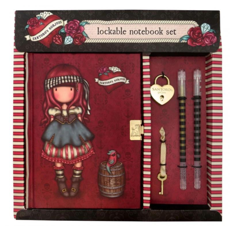 DIARIO SEGRETO lockable journal SET con accessori MARY ROSE gorjuss ROSSO santoro 522GJ09 Gorjuss - 2