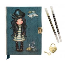 DIARIO SEGRETO lockable journal SET con accessori BLACK PEARL gorjuss BLU santoro 522GJ07 Gorjuss - 1