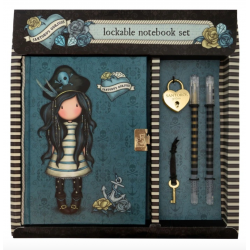DIARIO SEGRETO lockable journal SET con accessori BLACK PEARL gorjuss BLU santoro 522GJ07 Gorjuss - 2