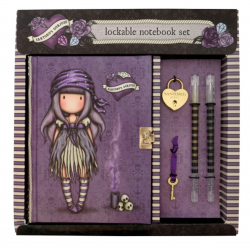 DIARIO SEGRETO lockable journal SET con accessori BLACK PEARL gorjuss BLU santoro 522GJ08 Gorjuss - 1