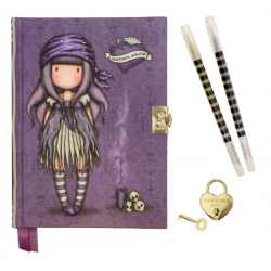 DIARIO SEGRETO lockable journal SET con accessori BLACK PEARL gorjuss BLU santoro 522GJ08 Gorjuss - 2