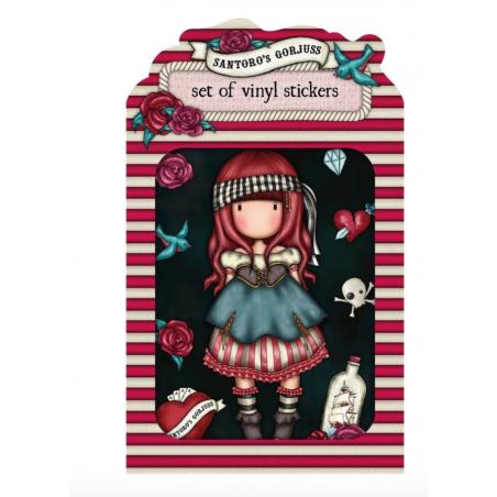 SET DI ADESIVI vinyl sticker pack MARY ROSE gorjuss ROSSO santoro 1062GJ02 Gorjuss - 1