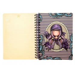 NOTEBOOK large wirobound journal SEA NIXIE gorjuss VIOLA santoro 767GJ06 Gorjuss - 1