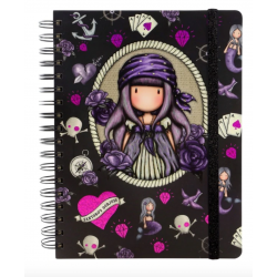 NOTEBOOK large wirobound journal SEA NIXIE gorjuss VIOLA santoro 767GJ06 Gorjuss - 2