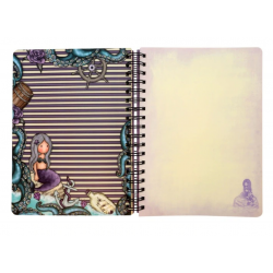 NOTEBOOK large wirobound journal SEA NIXIE gorjuss VIOLA santoro 767GJ06 Gorjuss - 3