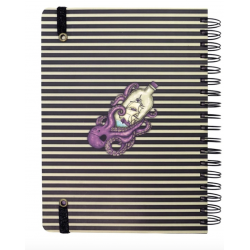 NOTEBOOK large wirobound journal SEA NIXIE gorjuss VIOLA santoro 767GJ06 Gorjuss - 4