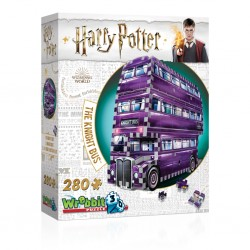 THE KNIGHT BUS nottetempo PUZZLE 3D wrebbit 280 PEZZI wizarding world HARRY POTTER età 12+ Wrebbit - 1
