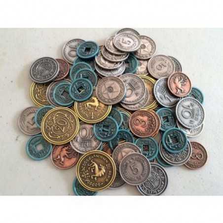 MONETE IN METALLO set da 80 PER SCYTHE metal coins IN 5 TAGLI limited edition STONEMAIERGAMES età 14+ Ghenos Games - 1