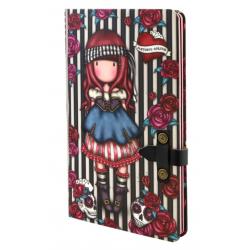 NOTEBOOK large journal with strap MARY ROSE con clip di chiusura GORJUSS santoro ROSSO taccuino 400GJ09 Gorjuss - 1