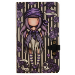 NOTEBOOK large journal with strap SEA NIXIE con clip di chiusura GORJUSS santoro VIOLA taccuino 400GJ08 Gorjuss - 1