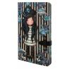NOTEBOOK large journal with strap BLACK PEARL con clip di chiusura GORJUSS santoro BLU taccuino 400GJ07 Gorjuss - 1