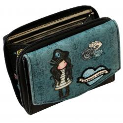 PORTAMONETE wallet BLACK PEARL gorjuss 1073GJ01 santoro BLU bottone Gorjuss - 2