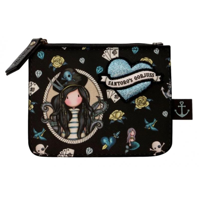 PORTAMONETE zip purse BLACK PEARL gorjuss 1073GJ01 santoro BLU con cerniera Gorjuss - 1