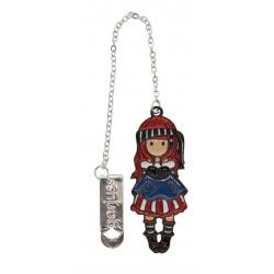 SEGNALIBRO IN METALLO metal bookmark in glass jar MARY ROSE gorjuss ROSSO santoro 1061GJ02 Gorjuss - 2