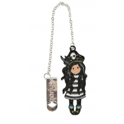 SEGNALIBRO IN METALLO metal bookmark in glass jar BLACK PEARL gorjuss BLU santoro 1061GJ01 Gorjuss - 2