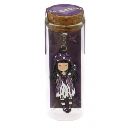 SEGNALIBRO IN METALLO metal bookmark in glass jar SEA NIXIE gorjuss VIOLA santoro 1061GJ03 Gorjuss - 1