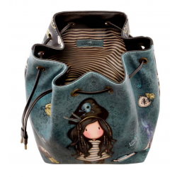BORSA A SECCHIELLO bucket bag BLACK PEARL gorjuss BLU chiusura a strozzo 1070GJ02 Gorjuss - 3