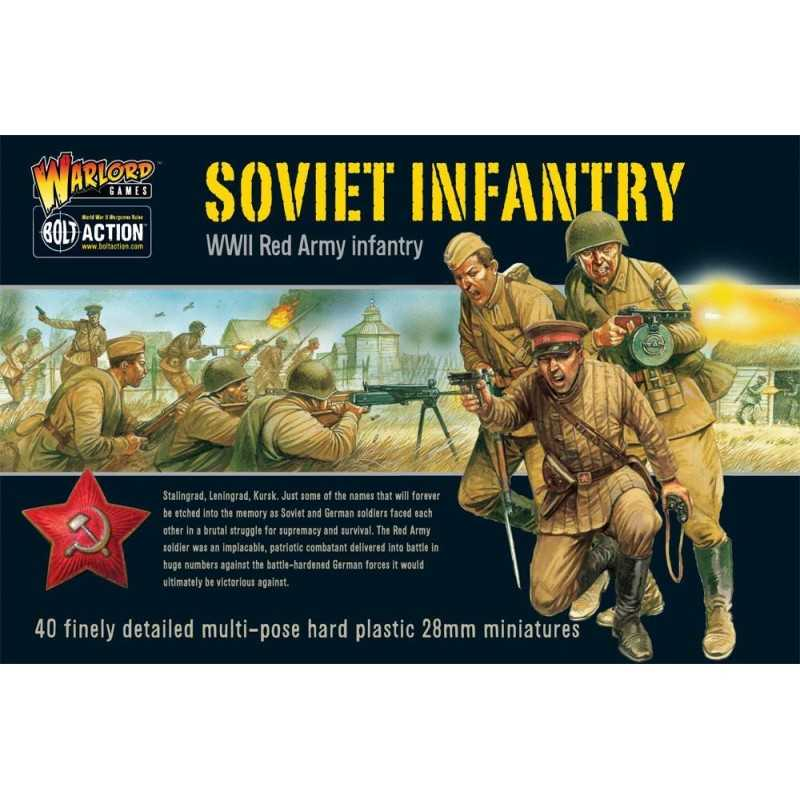 SOVIET INFANTRY Bolt Action 40 miniature in plastica 28mm Red Army Fanteria Russa Warlord Games Warlord Games - 1