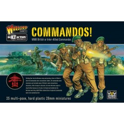 COMMANDOS soldati fanteria alleati BOLT ACTION 25 miniature in plastica WARLORD GAMES scala 1:56 Warlord Games - 1