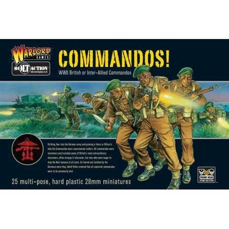 COMMANDOS soldati fanteria alleati BOLT ACTION 25 miniature in plastica WARLORD GAMES scala 1:56 Warlord Games - 1