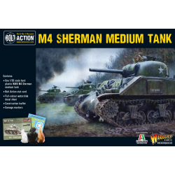M4 SHERMAN MEDIUM TANK carro armato BOLT ACTION miniatura in plastica WARLORD GAMES scala 1/56 Warlord Games - 1
