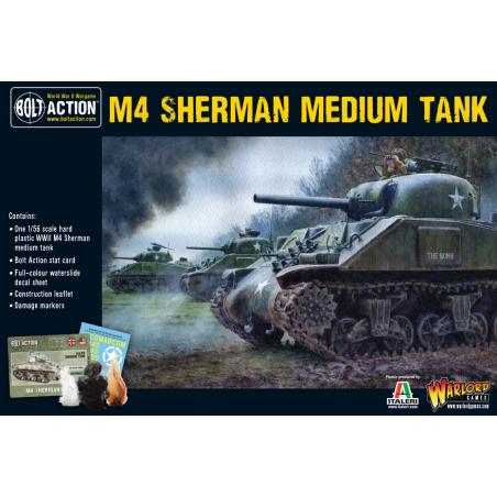 M4 SHERMAN MEDIUM TANK carro armato BOLT ACTION miniatura in plastica WARLORD GAMES scala 1/56 Warlord Games - 1
