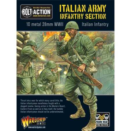 ITALIAN ARMY INFANTRY SECTION fanteria italiana BOLT ACTION 10 miniature in metallo WARLORD GAMES scala 1/56 Warlord Games - 1